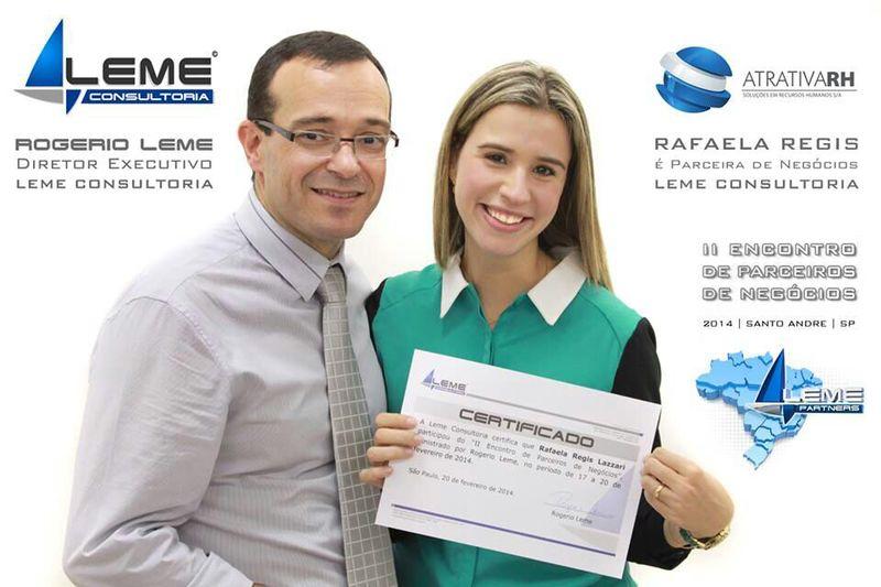 Rogerio Leme e Rafaela Regis